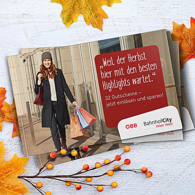 SPAREN im Herbst: Gutscheinheft BahnhofCity Wien WEST