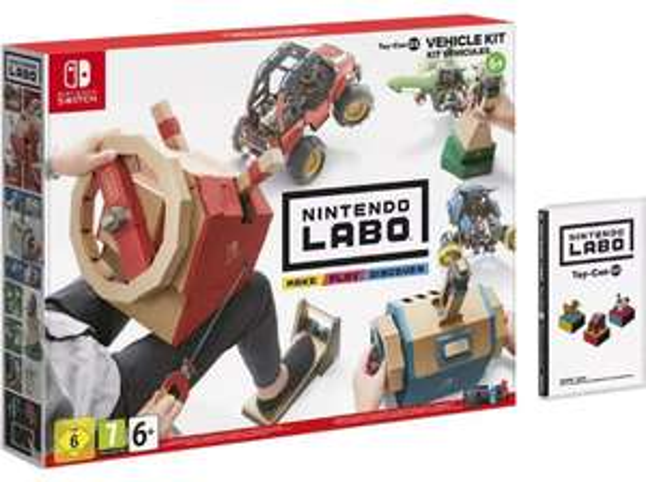 Nintendo Labo: Toy-Con 03 Fahrzeugset - (Nintendo Switch) bei Media Markt - Gas geben ist vermutlich schnell weg