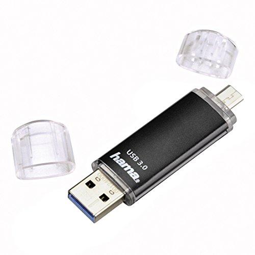 Hama 128GB USB-Speicherstick mit USB 3.0 & microUSB