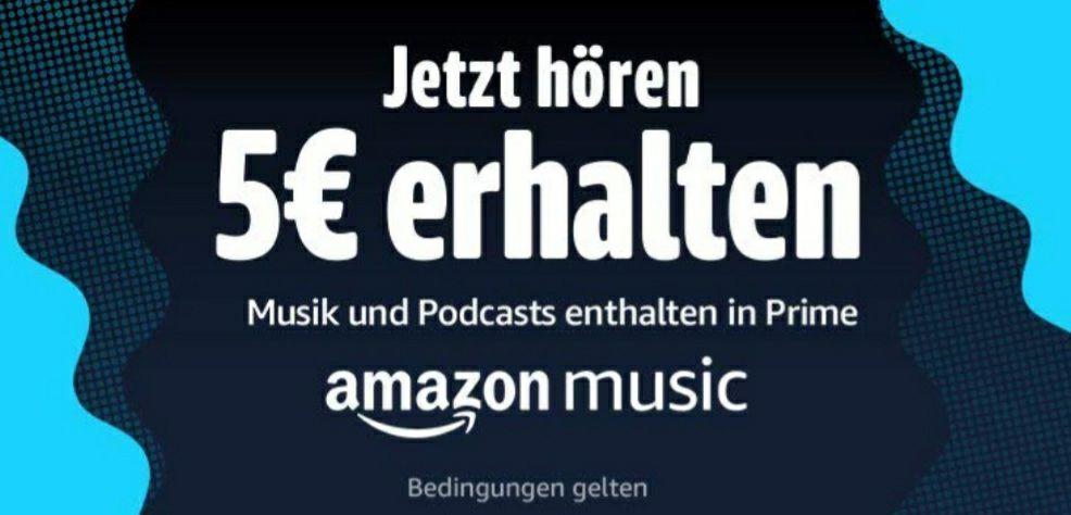 5€ Amazon Gutschein - 1 Song über amazon music streamen (nur für ausgewählte Primekunden)