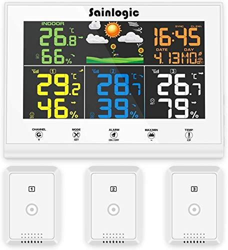 Sainlogic Funk Wetterstation mit 3 Außensensoren
