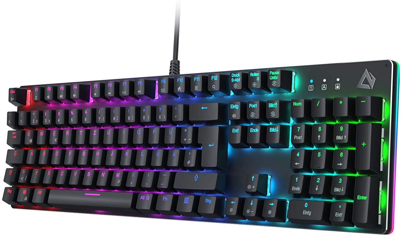 AUKEY Mechanische Gaming Tastatur mit Anpassbarer RGB-Hintergrundbeleuchtung