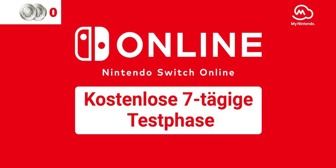 Kostenlose 7-Tage-Testphase für Nintendo Switch Online ohne Punkte