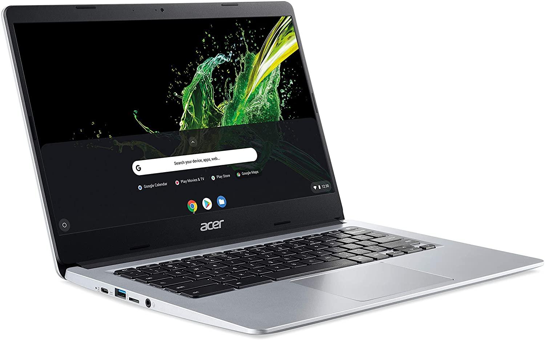 Acer Chromebook 314 (14 Zoll Full-HD matt, 19,7mm flach, extrem lange Akkulaufzeit, schnelles WLAN, MicroSD Slot, Google Chrome OS) Silber