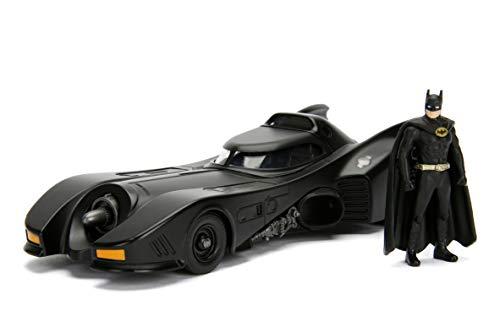 1989 Batmobil, Die-cast, zu öffnende Türen, inkl. Batman Figur, Maßstab 1:24 (Jada Toys 253215002)