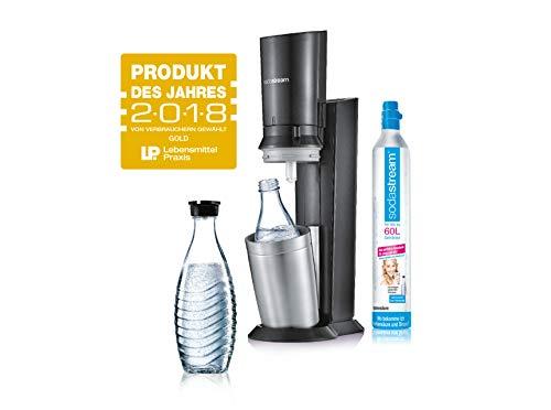 SodaStream Crystal 2.0 Wassersprudler mit CO2-Zylinder und 2x Glaskaraffen