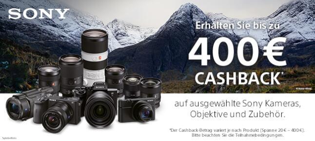 Sony Kamera Cashback (-50€ bis -400€)
