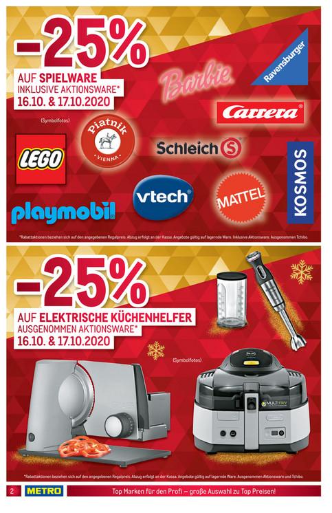 [Offline Metro] 25% auf Spielwaren inkl. Aktionen. Z.B. Lego Landrover Defender um € 116,1