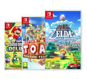 New Super Mario Bros. U + The Legend of Zelda + Captain Toad (Nintendo Switch)