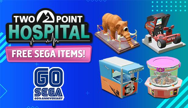 Two Point Hospital: SEGA 60th Items DLC (Windows/MAC/Linux PC) gratis - Go Sega 60th Anniversary