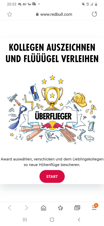 (2× Gratis RedBull) RedBull Überflieger Award