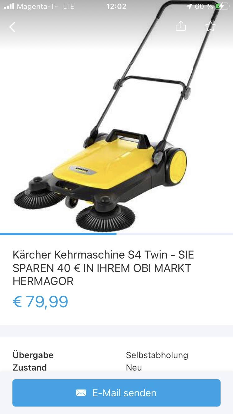 Kärcher Kehrmaschine S4 (Obi Hermagor)