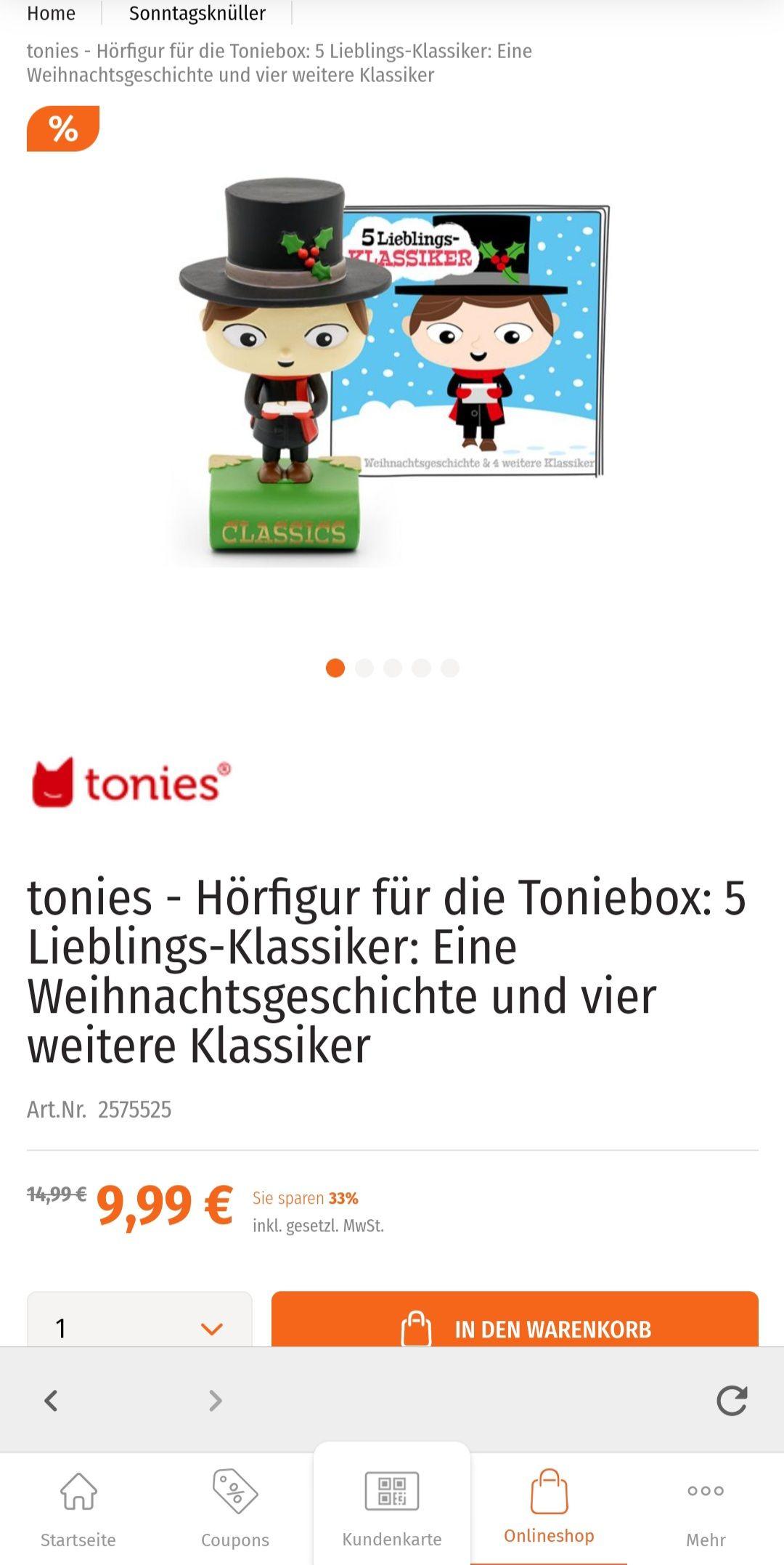 """Jetzt gibt's bei Müller im Onlineshop diese Tonies """"Klassiker"""" Figur vergünstigt"""