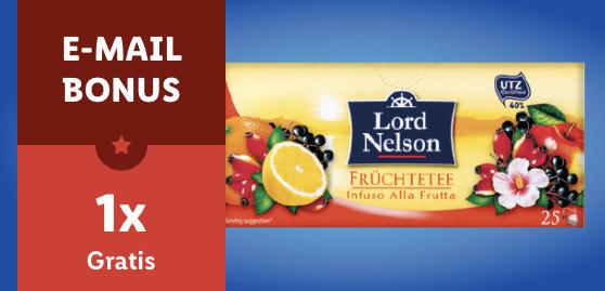 1 Pkg. Lord Nelson Früchtetee kostenlos für alle Lidl-Plus-Newsletter-Abonnenten
