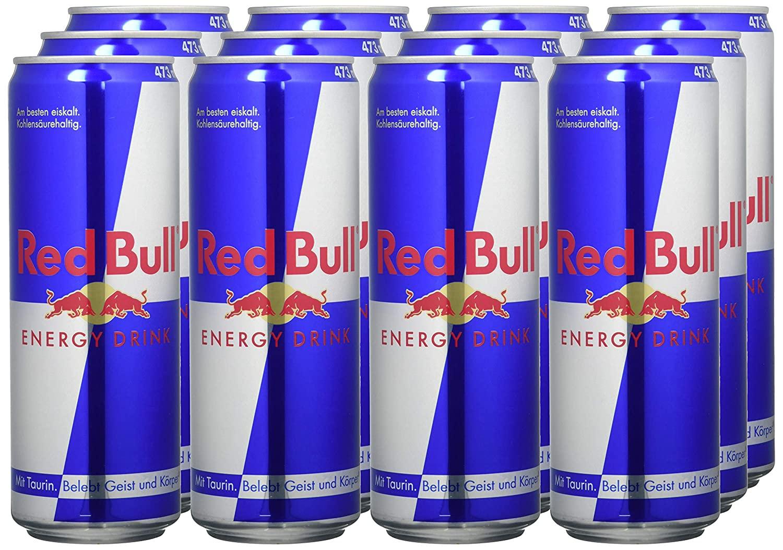AMAZON.de l Red Bull Energy Drink 12 x 473 ml OHNE Pfand Dosen Getränke, 12er Palette