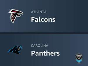 Amazon Prime / NFL live: Atlanta Falcons vs. Carolina Panthers
