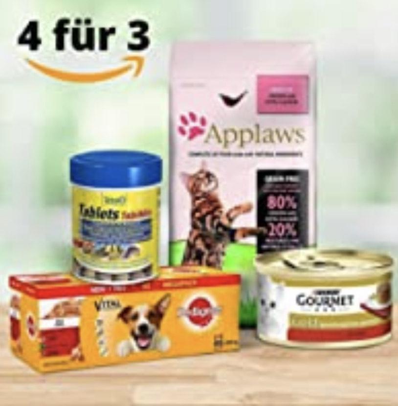 Nimm 4, zahl 3 bei Amazon auf Haustierprodukte