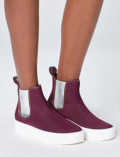Amazon-Marke: find. Plateauschuhe Damen Chelsea Boots-Design und Schlaufe Größe 38