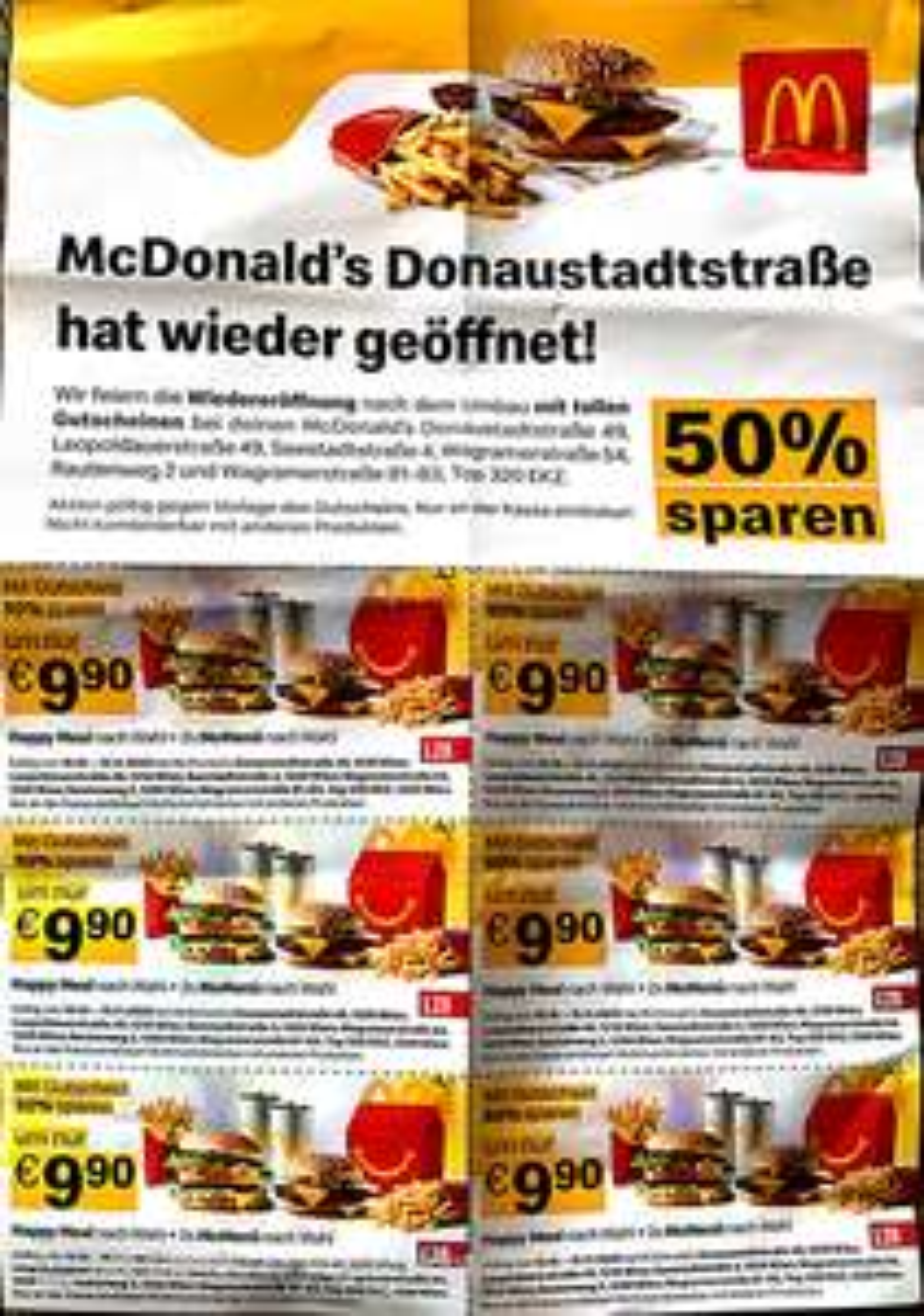 Exklusive McDonalds Gutscheine in Wien 22/21