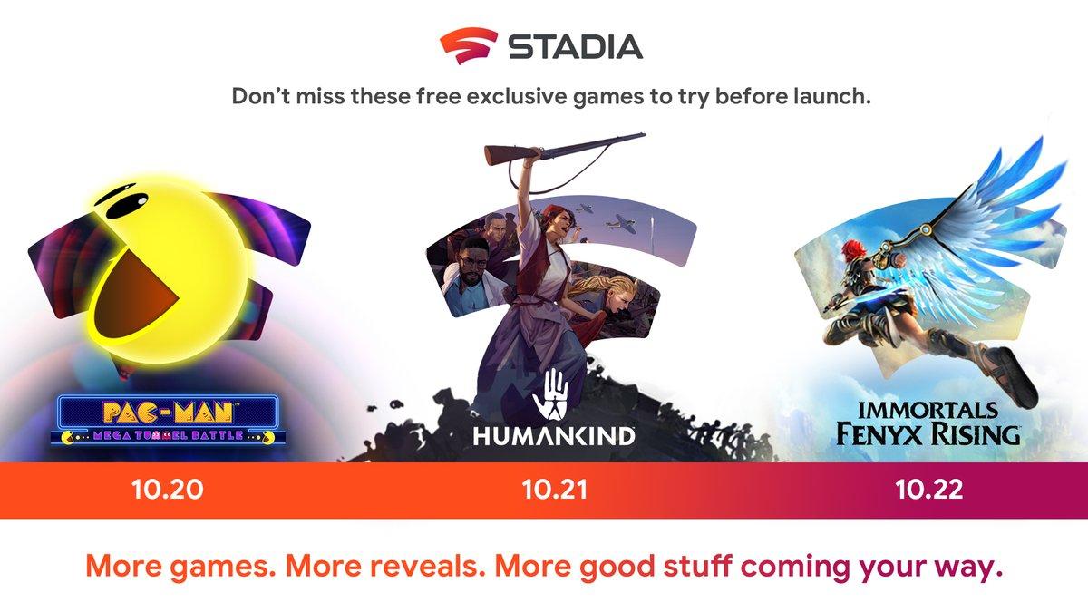 Gratis Spiele auf Google Stadia bis 27.10.