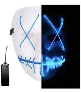 LED Light EL Wire Cosplay Maske