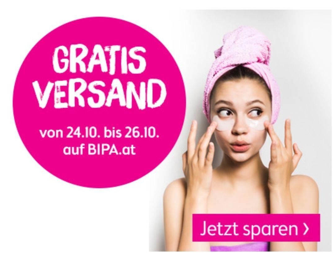 Bipa Onlineshop: Gratis Versand von 24. - 26.10.