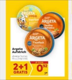 BILLA - Argeta Aufstrich (diverse Sorten)