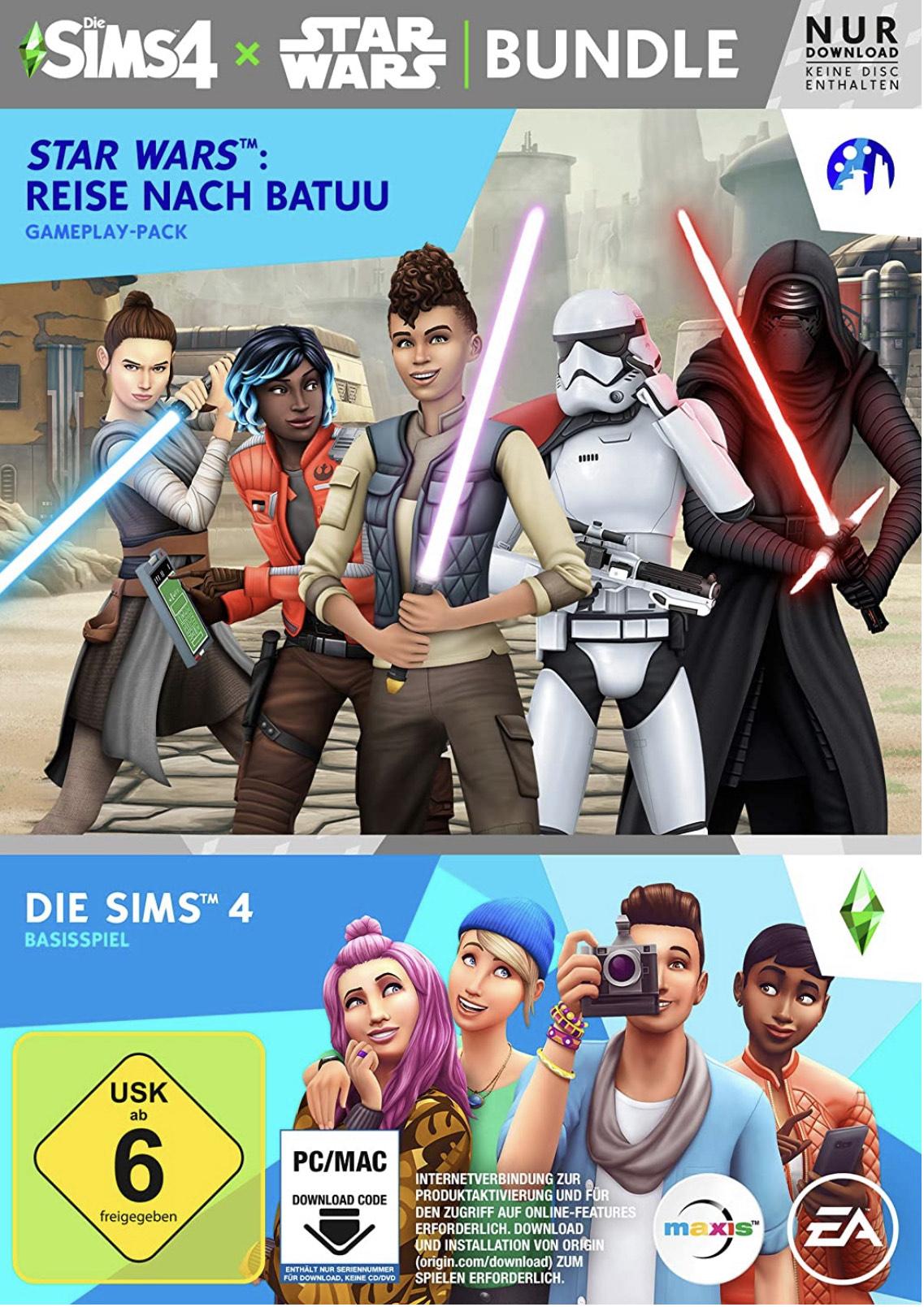 Die Sims 4: Star Wars - Reise nach Batuu-Bundle für Pc, Ps4 oder Xbox