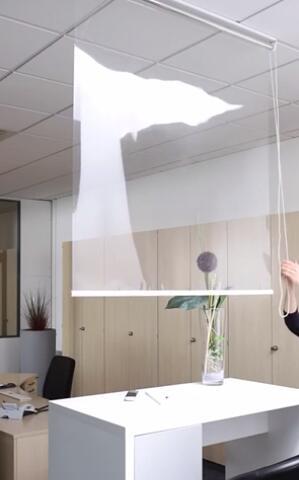 GARDINIA Hygiene-Rollo gegen Tröpfcheninfektionen, Glasklar, 150 x 180 cm oder 120 x 180 cm