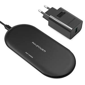 RAVPower 10W Wireless Charger + QuickCharge 3.0-Adapter