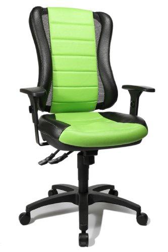 Topstar HE30PS105 - Bürodrehstuhl f. private+gewerbliche Nutzung (Grün + Rot)