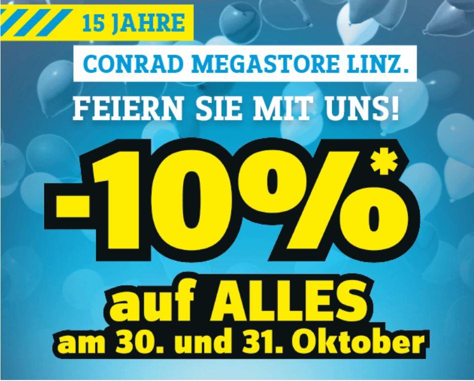 -10% auf ALLES im Conrad Megastore Linz!