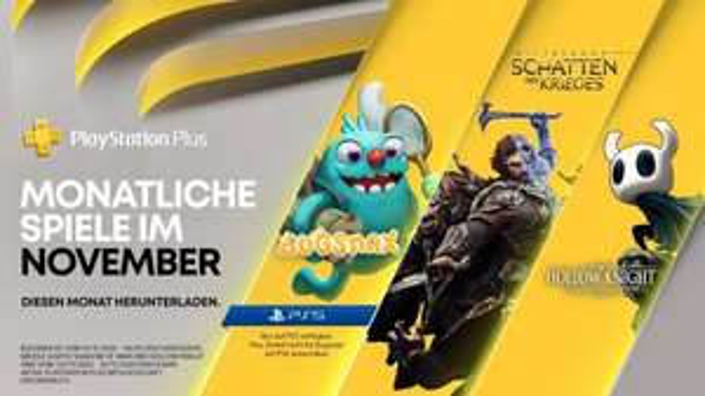 3 PS Plus Spiele für November sind bekannt: Bugsnax, Mittelerde: Schatten des Krieges und Hollow Knigth: Voidheart Edtion