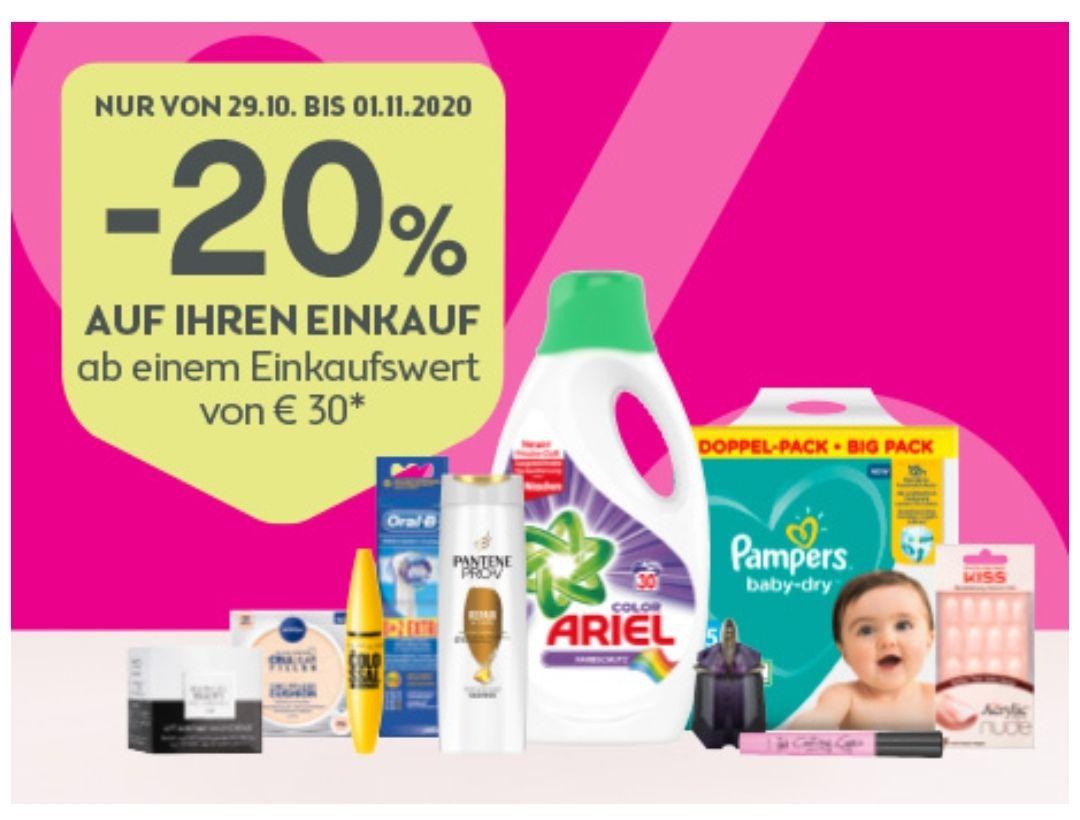 Bipa: 20% Rabatt ab 30€ Einkaufswert