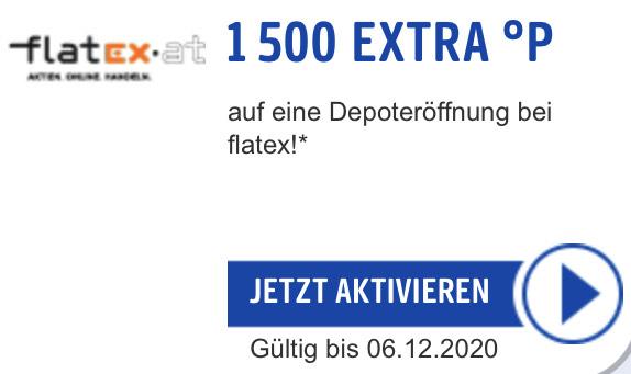 € 20,— geschenkt (in Form von Paybackpunkten) bei Flatex-Depoteröffnung