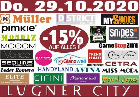 Lugner City: 15% Rabatt auf alles in 25 Geschäften