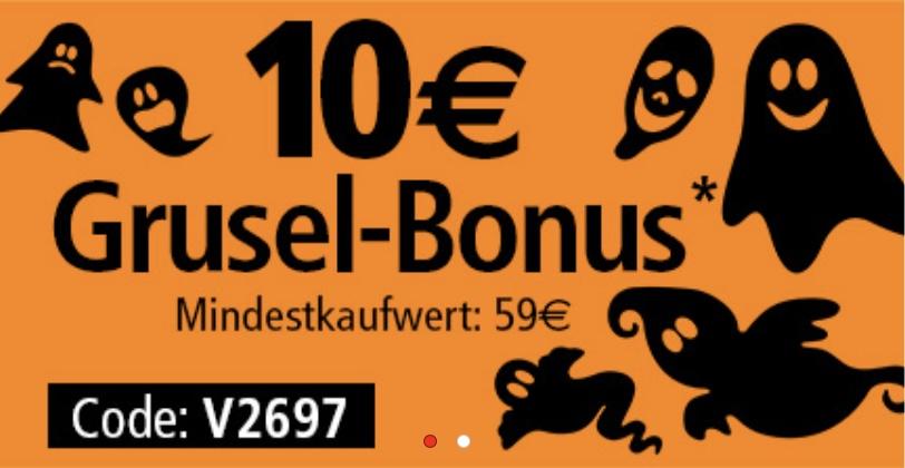 neckermann.at - 10€ Grusel-Bonus bis 31.10.