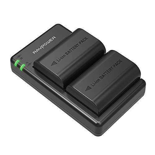 LP-E6 / LP-E6N RAVPower Kameraakkus für Canon, 2-Pack 2000mAh Batterie Ladeset