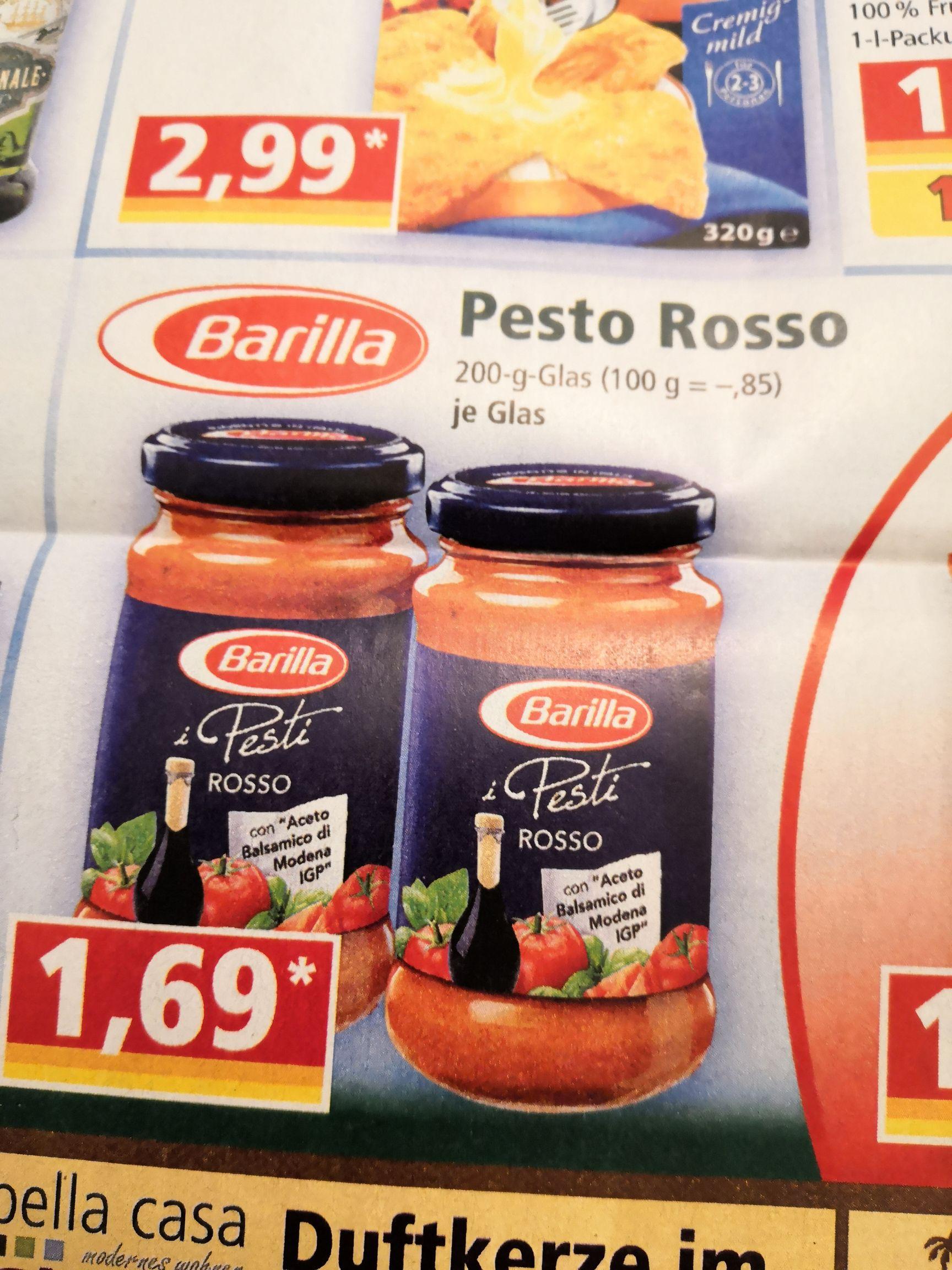Norma (OÖ, NÖ, SBG, T): Barilla Pesto Rosso 200g Glas