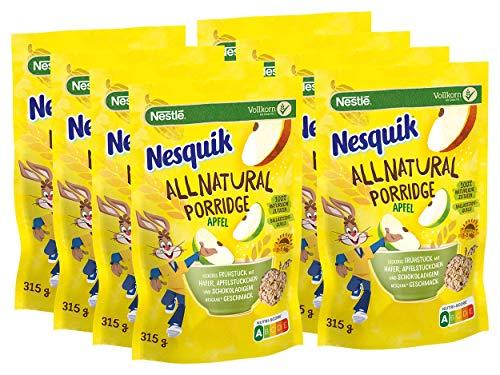 """2,52kg (8x315g) Nesquik """"All Natural Porridge Apfel mit Haferflocken"""""""