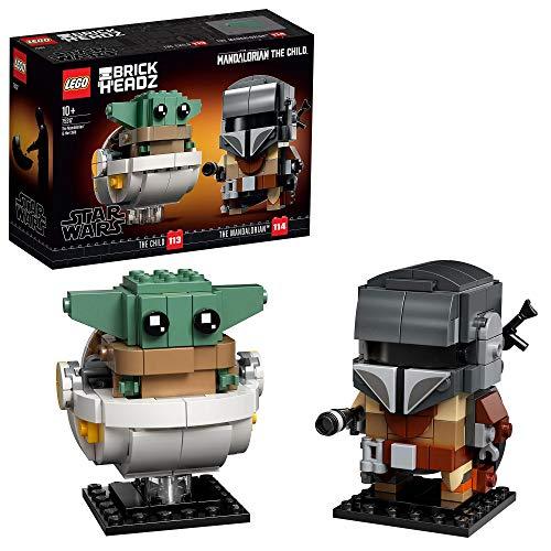 LEGO 75317, BrickHeadz Star Wars, der Mandalorianer und das Kind, Bauset