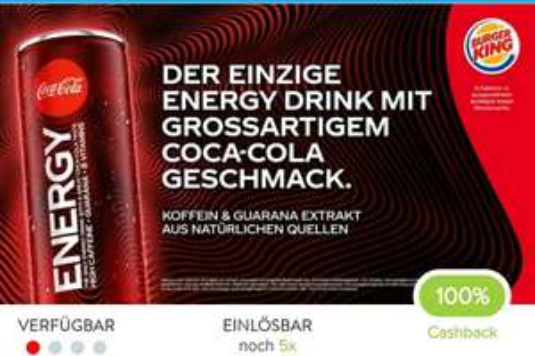 10x Coke Energy gratis (Marktguru - Burger King Wien)