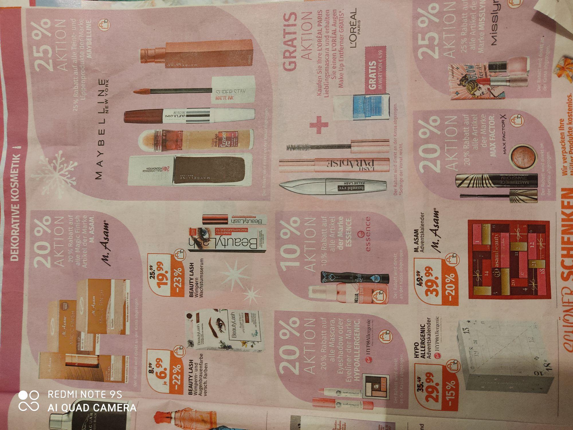 Aktionen Dekorative Kosmetik bei Müller Drogeriemarkt