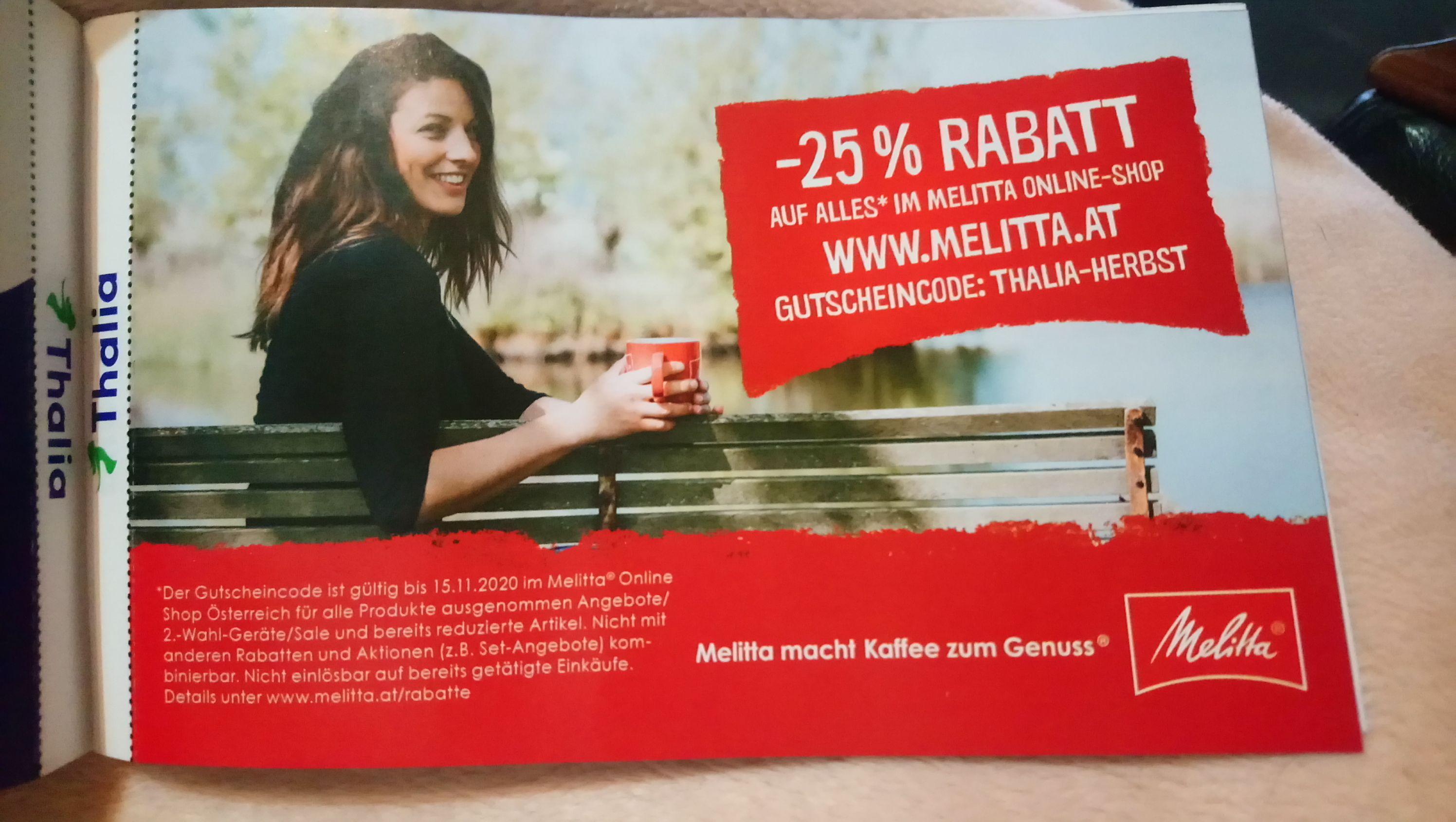 -25% auf MELITTA