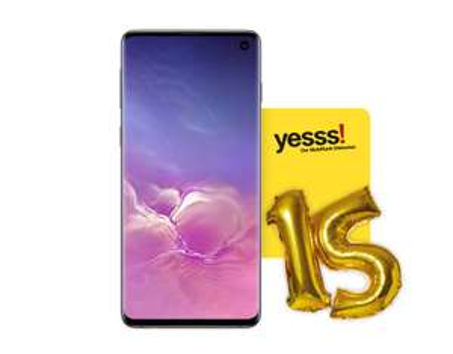 Yesss angebot.......Samsung Galaxy S10 zum Geburtstag