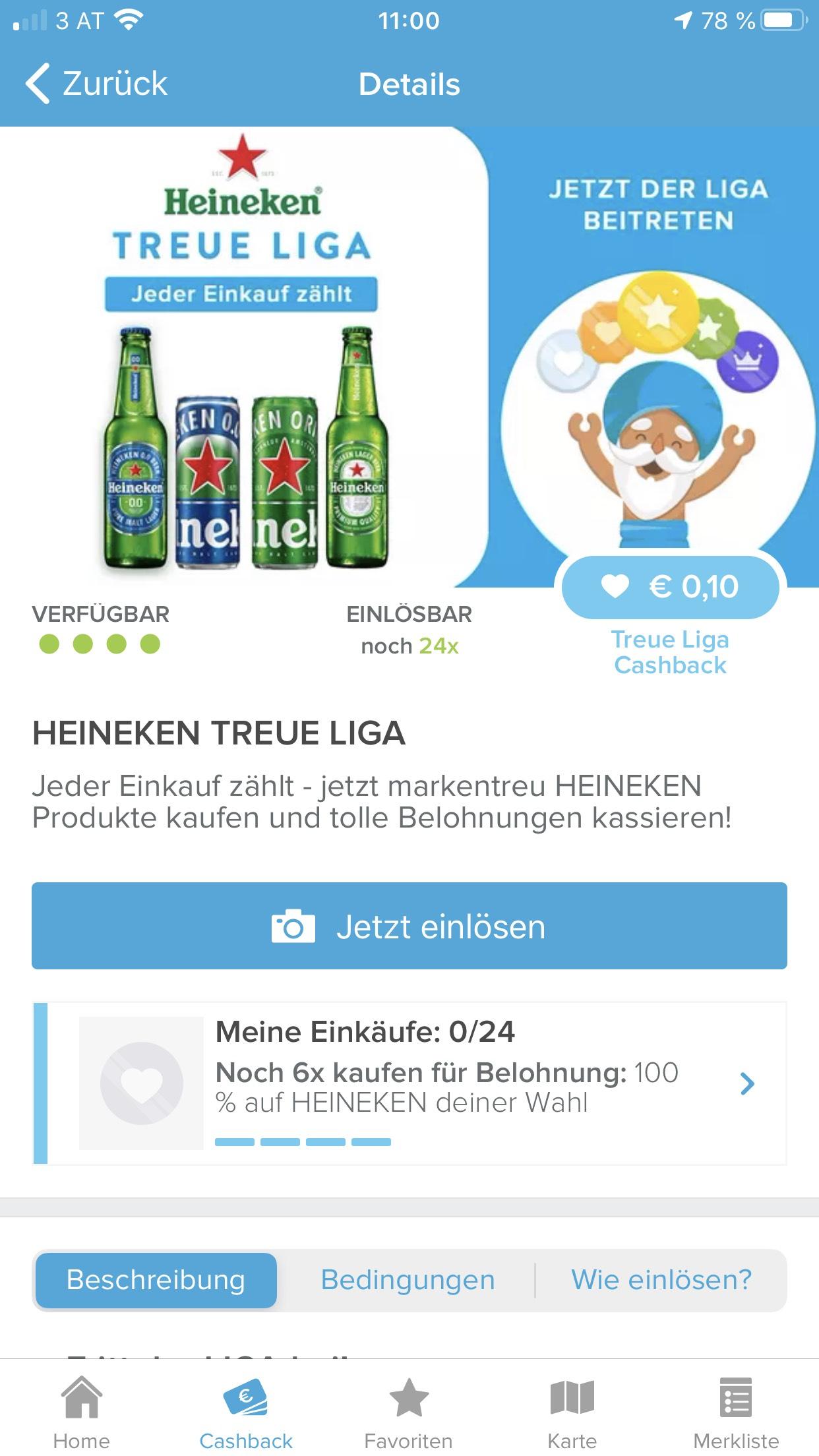 Marktguru Heineken Treue Liga