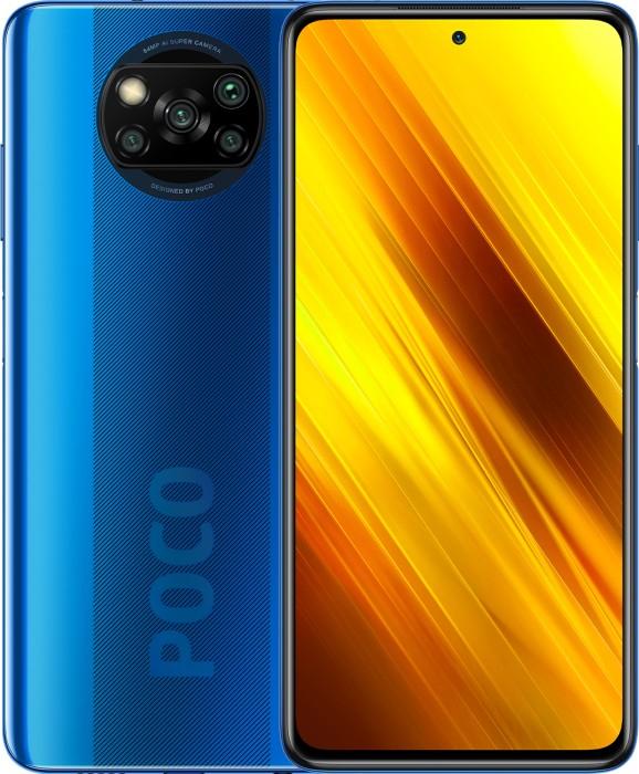 Xiaomi Poco X3 NFC 64GB/6GB mit 120hz Display und SD 732G schwarz oder blau