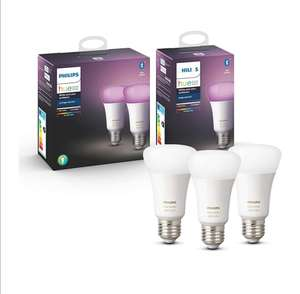 Philips Hue White and Color Ambiance E27 LED (Bluetooth) 2+1 Set