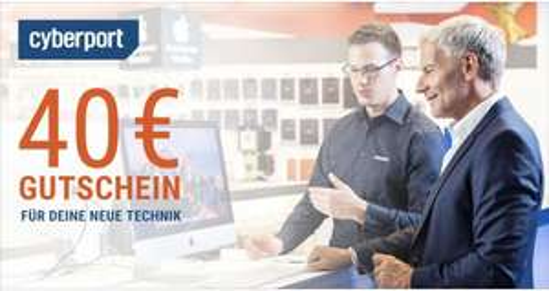 CyberportAT 40€ Gutschein ab 500€