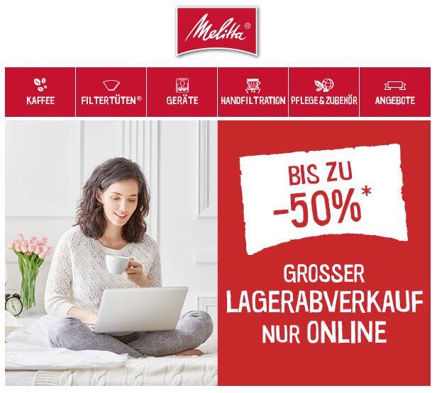 Kaffeefreunde aufgepasst (bis -50%) - Melitta hat wieder Rabatte im Angebot